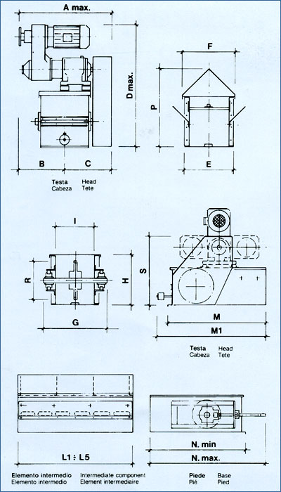 Grain pit chain conveyor technical drawing for Schema fossa imhoff dwg